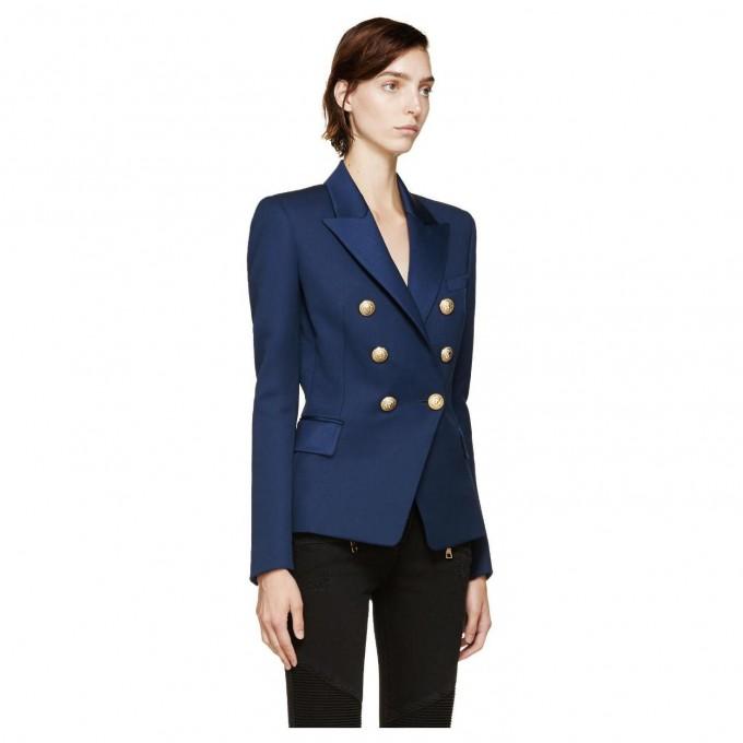 Double Breasted Leather Jacket | Balmain Henley | Balmain Double Breasted Blazer