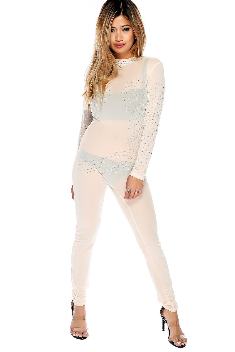 Dressy Jumpsuit | Formal Jumpsuits for Prom | Long Sleeve Denim Jumpsuit