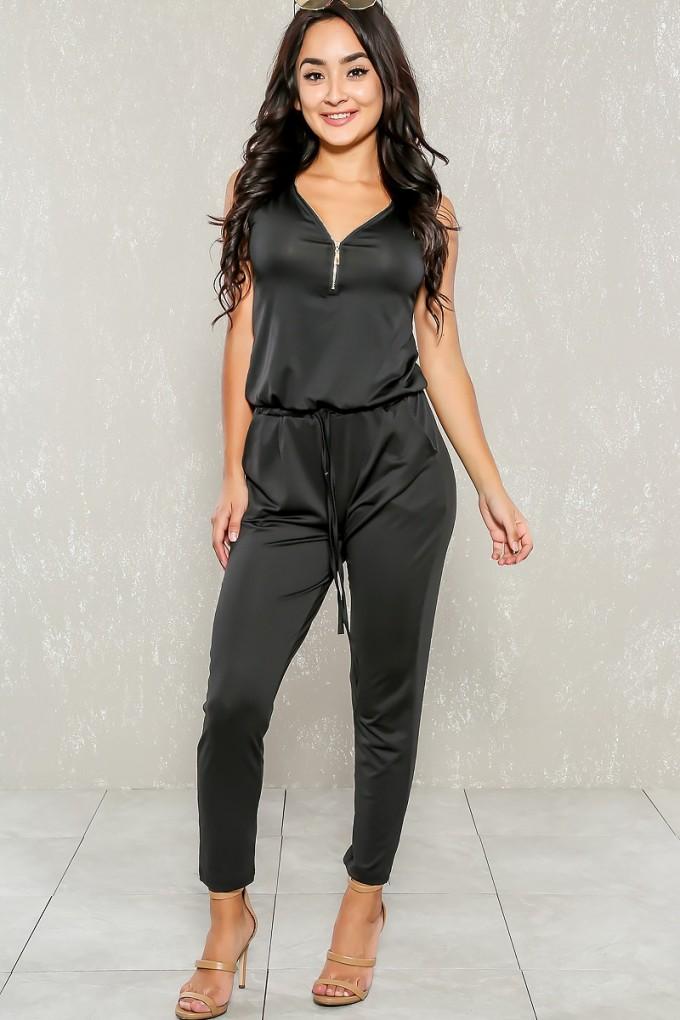 Dressy Jumpsuit | Grey Jumpsuit Womens | Petite Jumpsuits