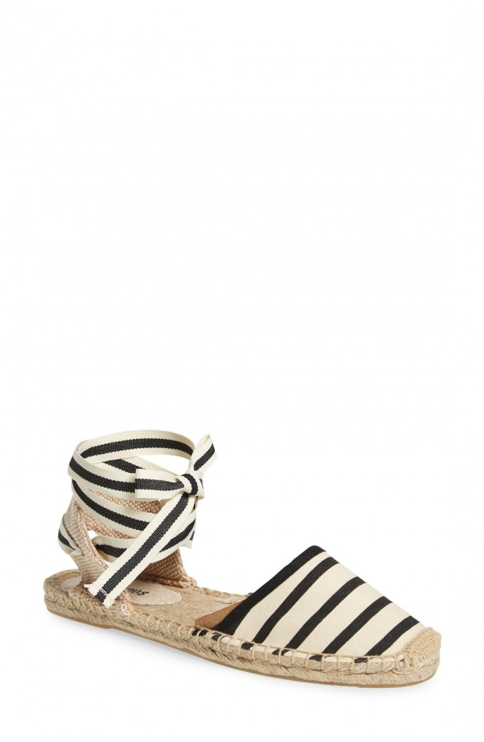 Espadrilles Tie Up | Flatform Sandals Cheap | Closed Toe Wedges With Ankle Strap