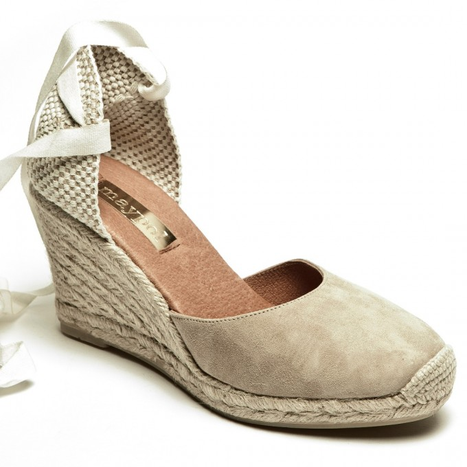 Espadrilles Tie Up | Nude Wedges Cheap | Ribbon Wedges