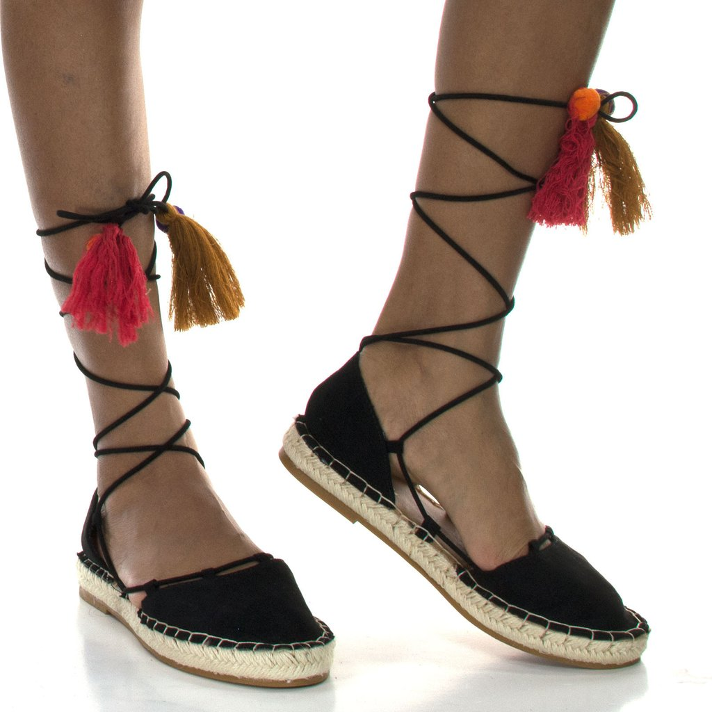 Espadrilles Tie Up | Tan Leather Wedges | Espadrille Shoes Womens