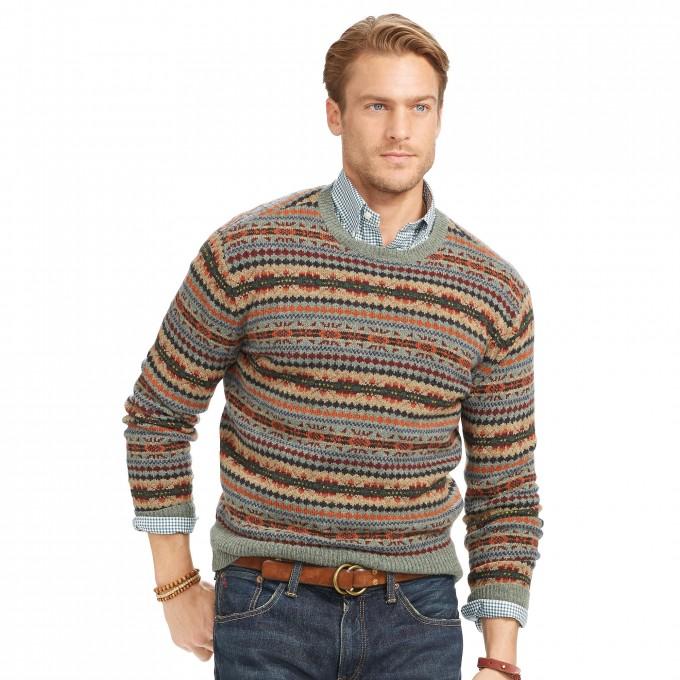 Fair Isle Clothing | Fair Isle Sweater | Grey Fair Isle Sweater