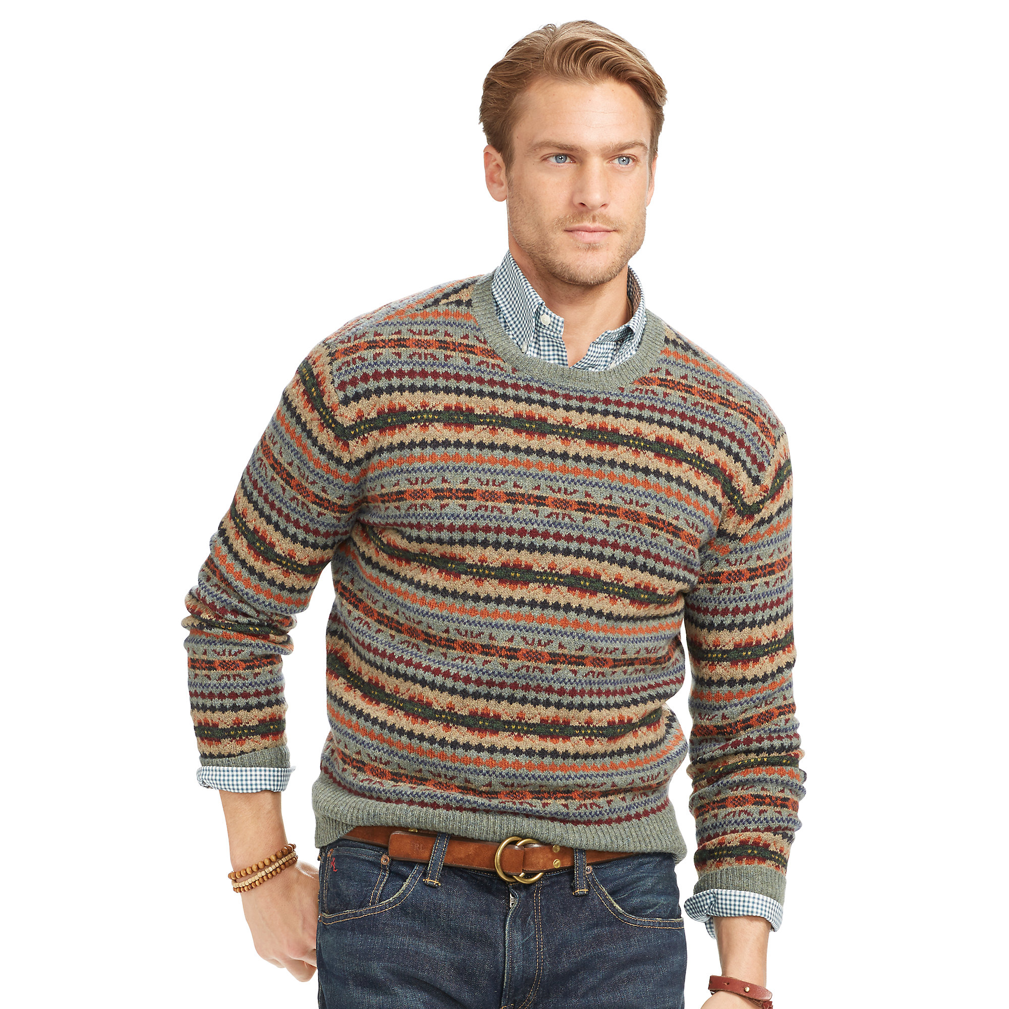 Fair Isle Clothing | Fair Isle Sweater | Grey Fair Isle Sweater