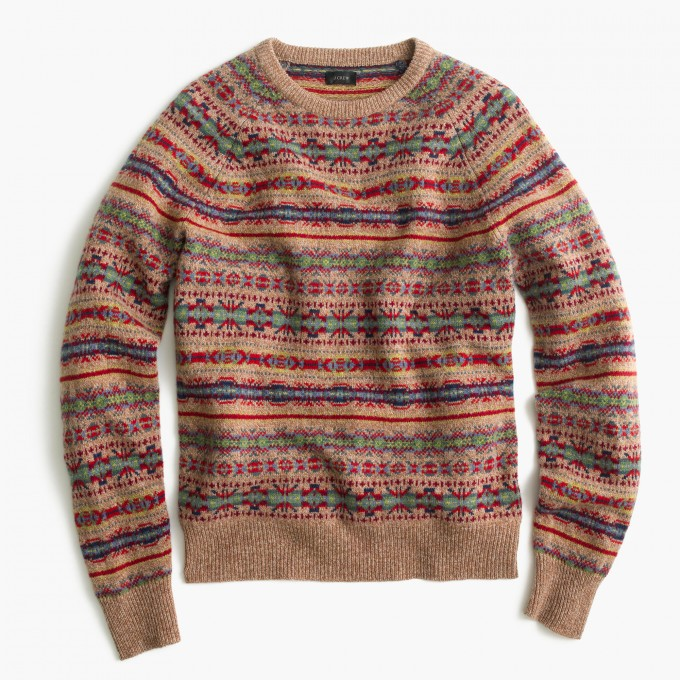 Fair Isle Print Sweater | Fair Isle Sweater J Crew | Fair Isle Sweater