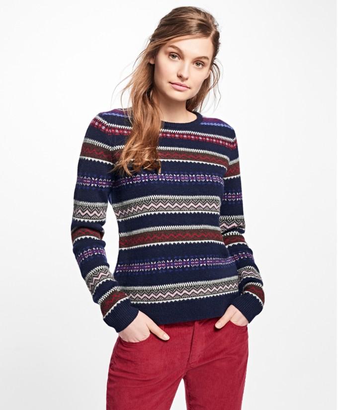 Fair Isle Sweater | Fair Isle Sweaters Women | Wool Fair Isle Sweater