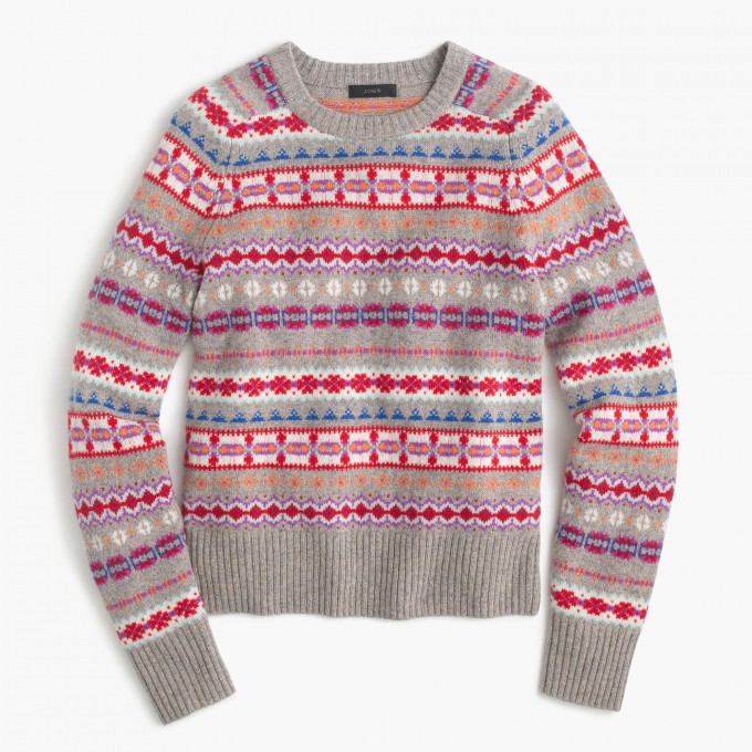 Fair Isle Sweater | Womens Fairisle Sweater | Gant Rugger Fair Isle Sweater
