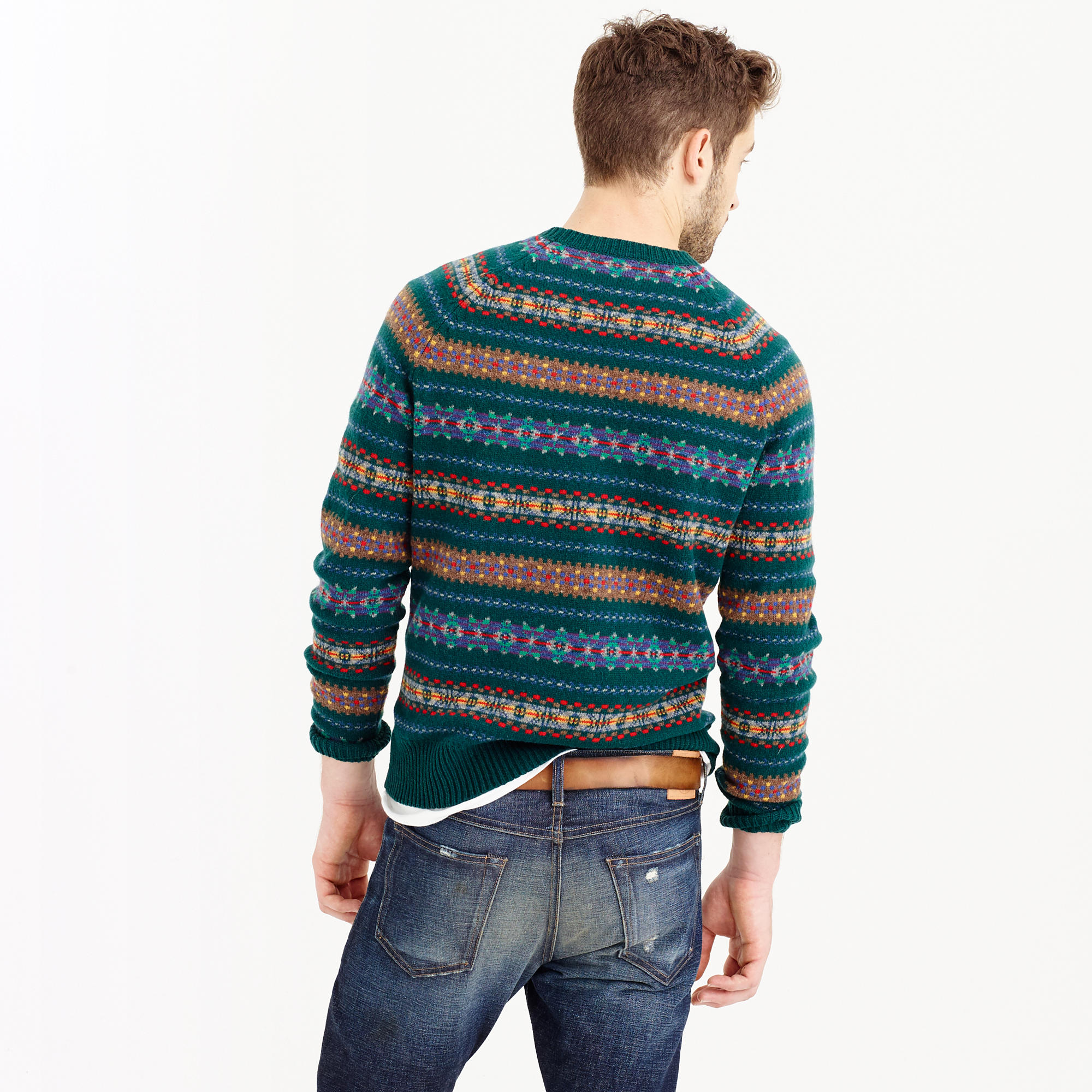 Fair Isle V Neck Sweater | Fair Isle Sweater Vest Mens | Fair Isle Sweater