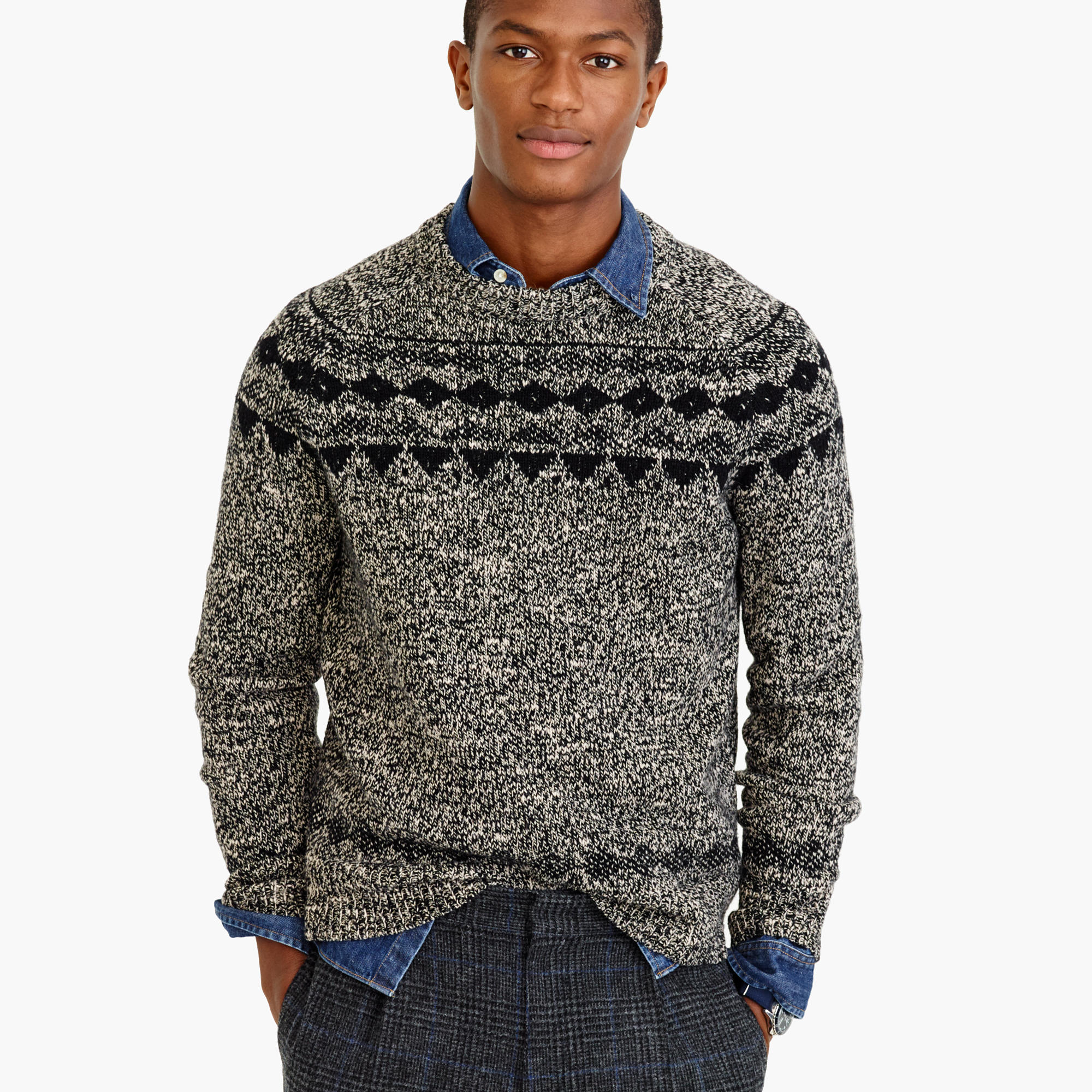 Fair Isle Vest Mens | Nordic Sweater | Fair Isle Sweater