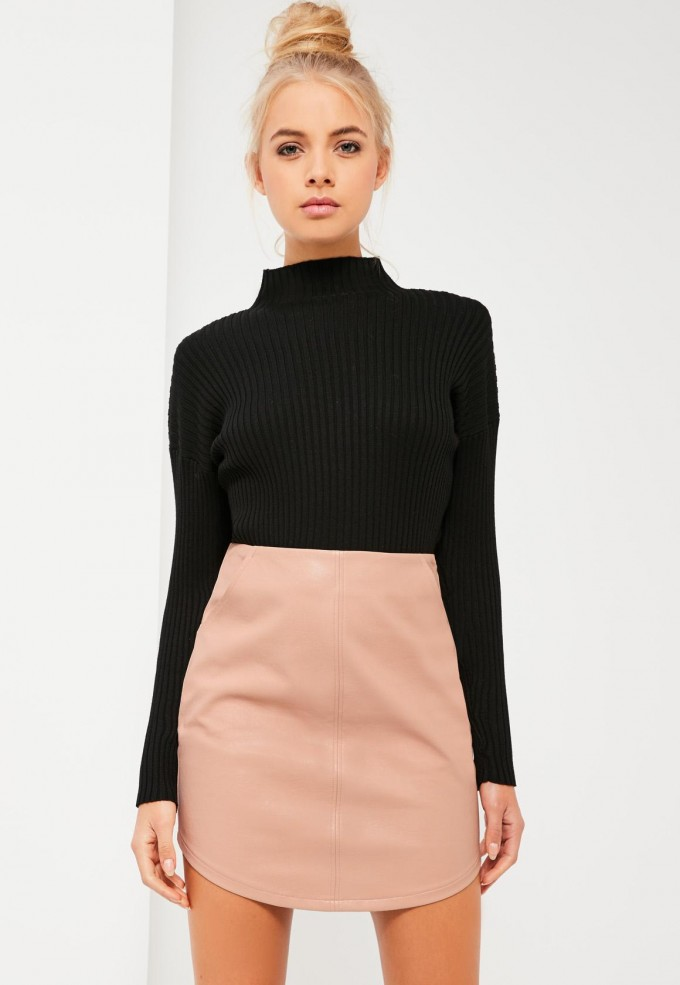 Faux Leather Circle Skirt | Faux Leather Skirt | Faux Leather Midi Skirt