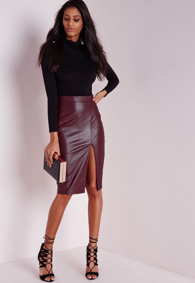 Faux Leather Skirt | A Line Suede Skirt | Faux Leather Mini Skirts