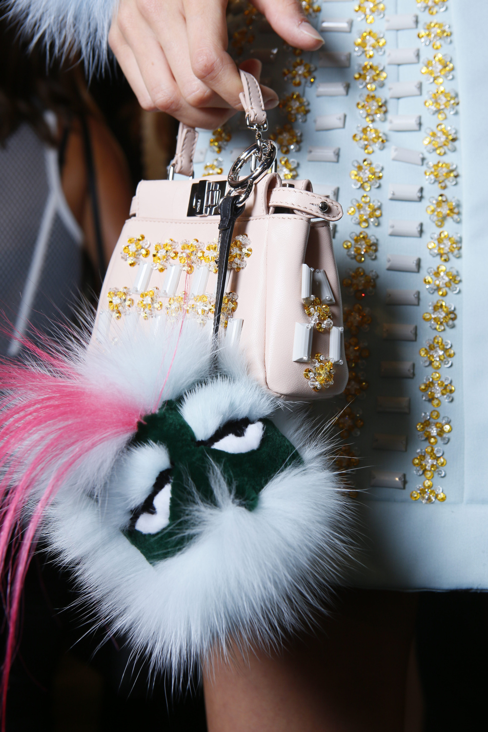 Fendi Fur Bag Charm | Fur Keychain | Fendi Fur Monster
