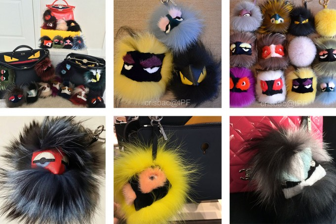 Fendi Fur Monster Charm For Handbag | Fendi Fur Monster | Fendi Keychains