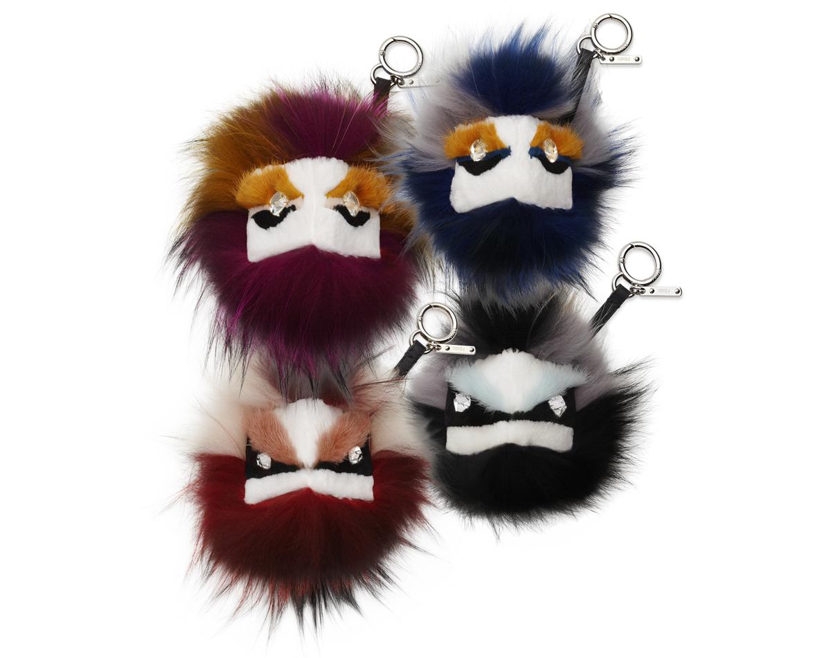 Fendi Fur Monster | Monster Keychains | Kendall Jenner Keychain