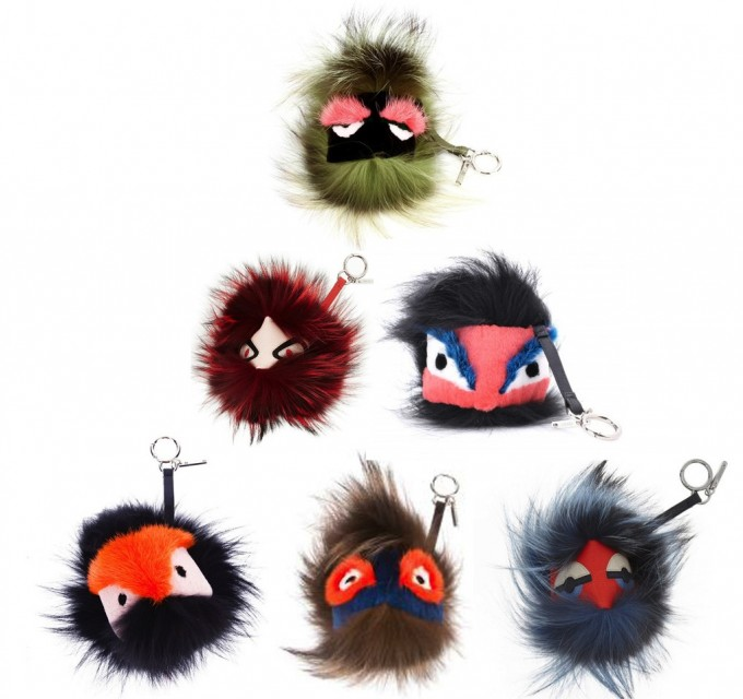 Fendi Fur Monster | Purse Keychain Charms | Bug Keychain