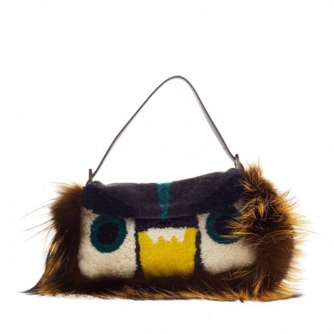 Fendi Fur Monster | Purse Keychains | Fluffy Ball Keychain