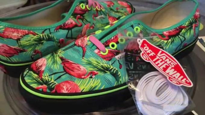 Flamingo Vans | Mens Galaxy Vans For Sale | Vans Shoes Floral