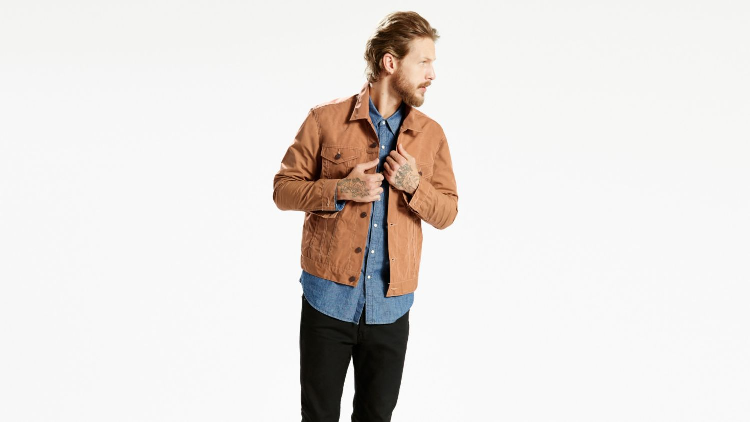 Flannel Lined Coat | Mens Cotton Canvas Jacket | Waxed Trucker Jacket