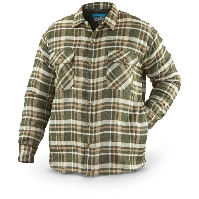 Flannel Shirt Jacket With Quilted Lining | Cabelas Mens Shirts | Quilted Flannel Shirt