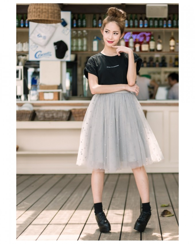 Floral Pleated Skirt | Tulle Skirt For Women | Tulle Midi Skirt