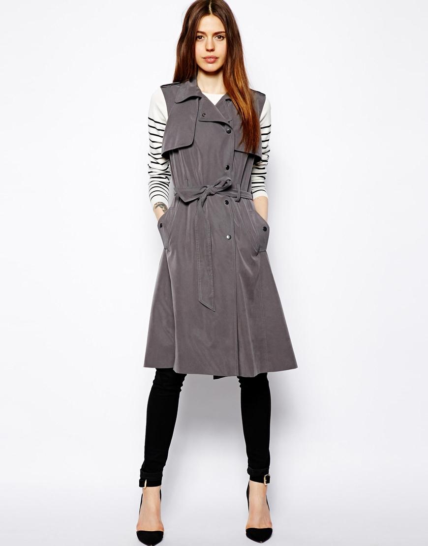 Forever 21 Trench Coat Womens | Short Beige Trench Coat | Sleeveless Trench Coat