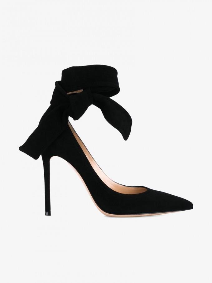 Gianvito Rossi Shoes | Satin Bow Heels | Gianvito Rossi Pump