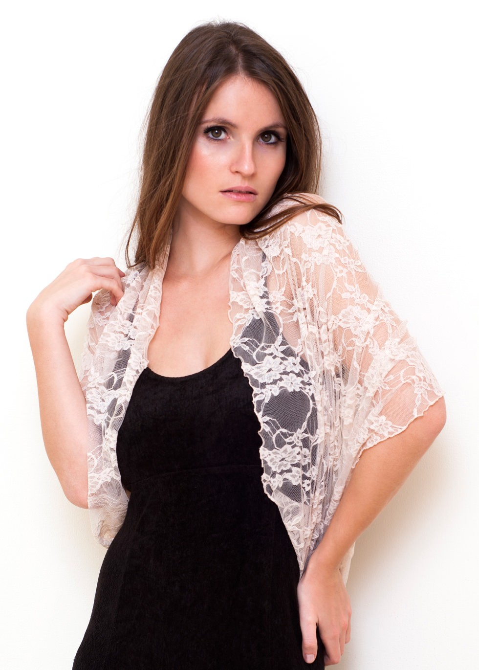 Style & Ideas: Wonderful Lace Shrug For More Detail For Your Dress ...