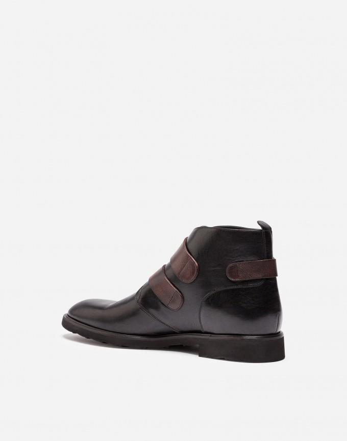 Gold Heel Booties   Buckle Booties   Black Ankle Boots With Buckles