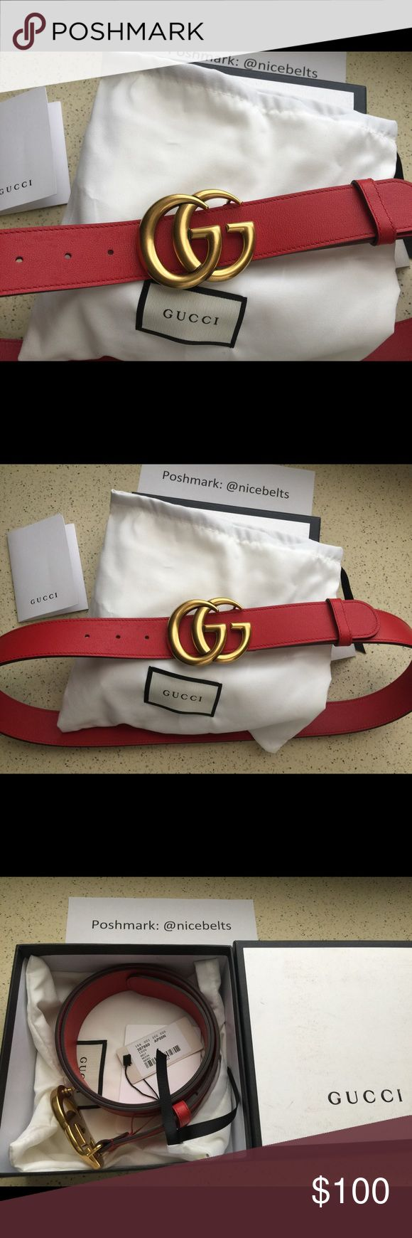 Goochie Man | Red Gucci Belt | Mens Chanel Belt