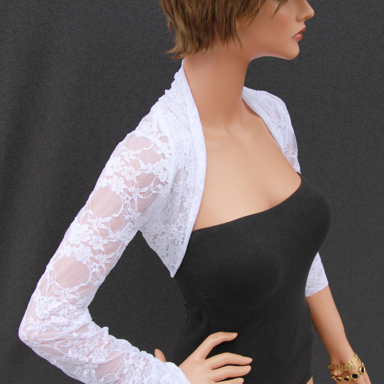 Gray Lace Shrug | Dressy Cardigans | Lace Shrug