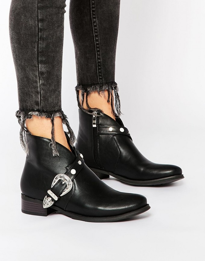 Grey Cowgirl Boots | Western Ankle Boots | Discount Cowboy Boots