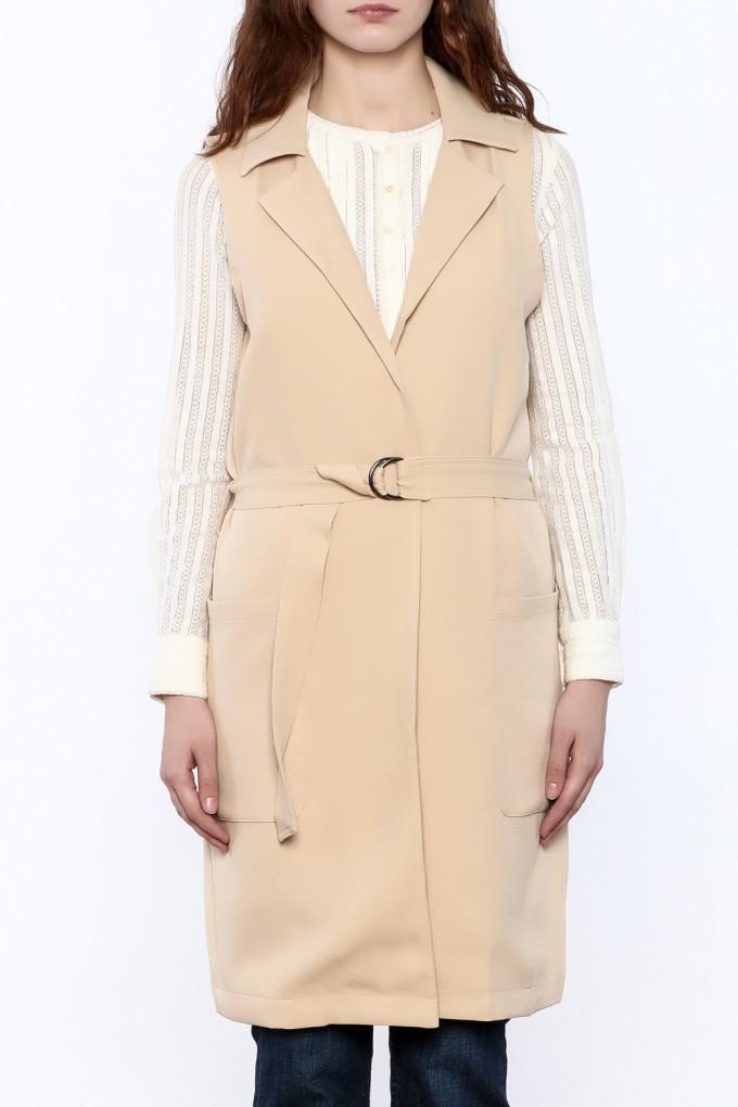 Grey Womens Trench Coat | Sleeveless Trench Coat | Womens Grey Trench Coat
