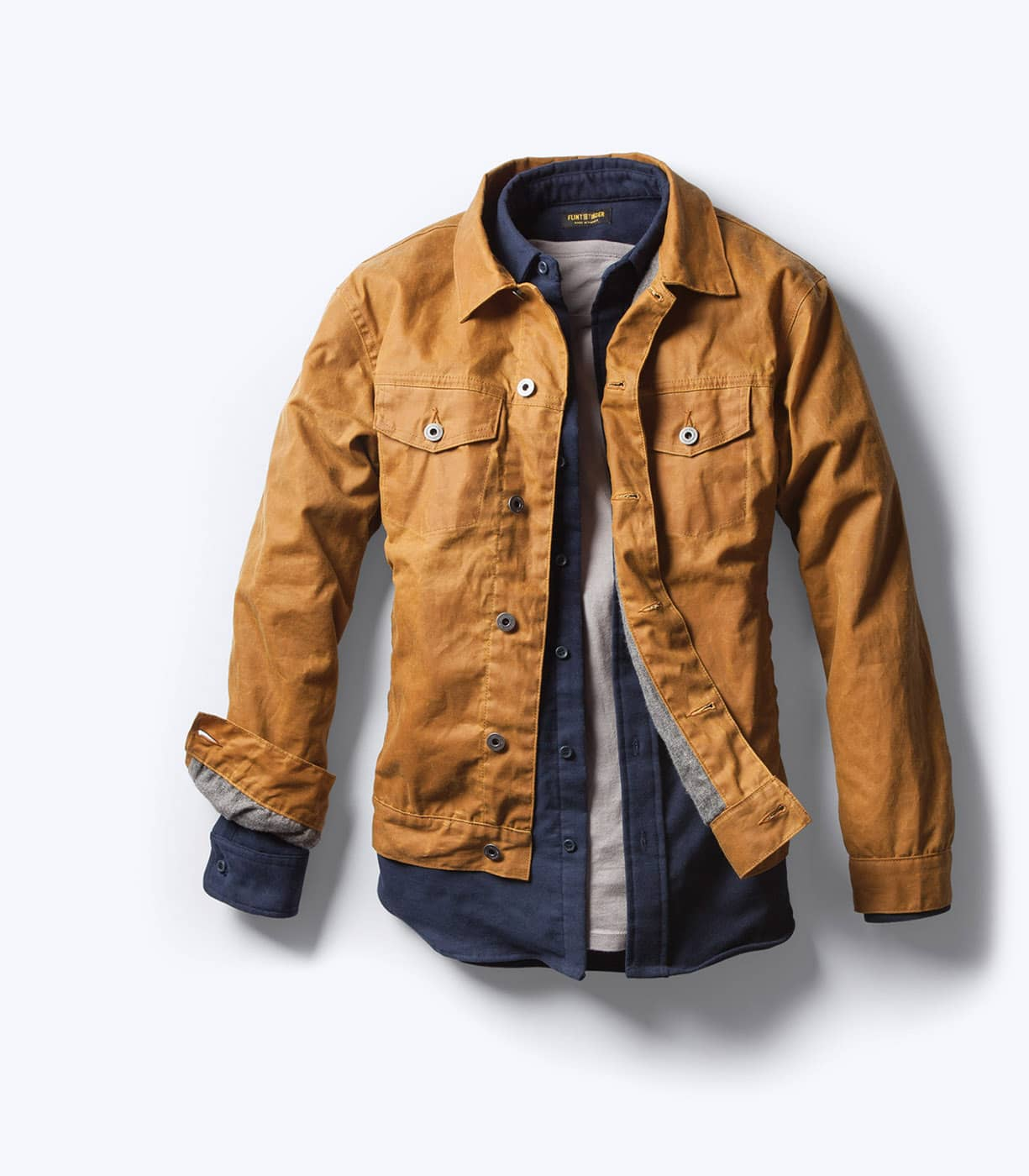 Gustin Trucker Jacket | Waxed Chore Coat | Waxed Trucker Jacket