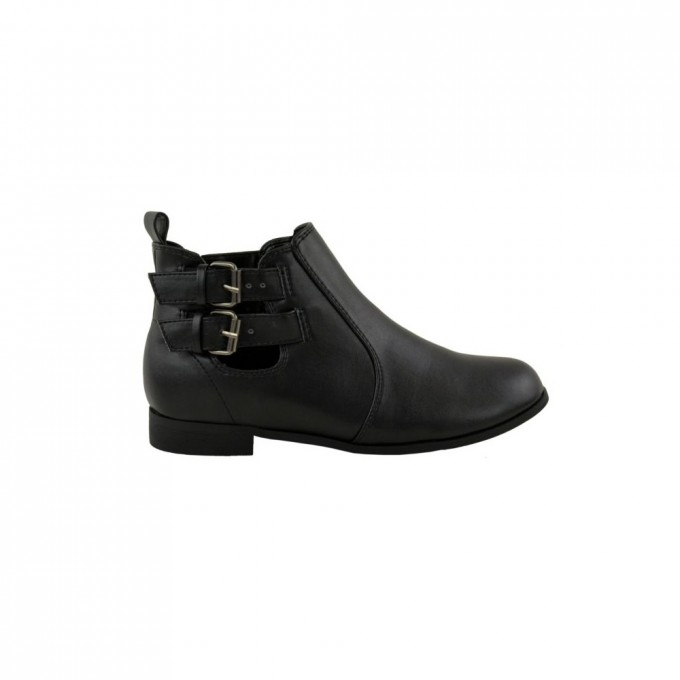 Heel Ankle Boots | Kohls Womens Boots | Black Ankle Boots With Buckles