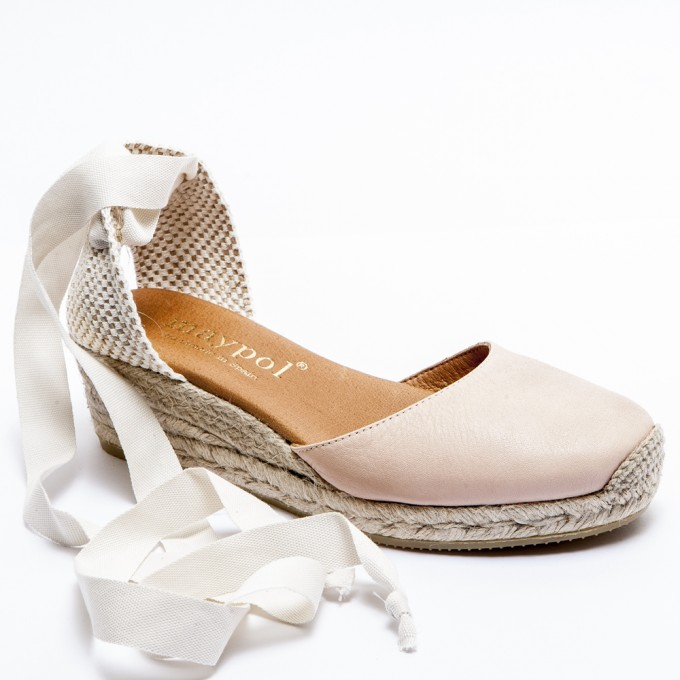 Heeled Canvas Shoes | Lace Up Espadrille Flats | Espadrilles Tie Up