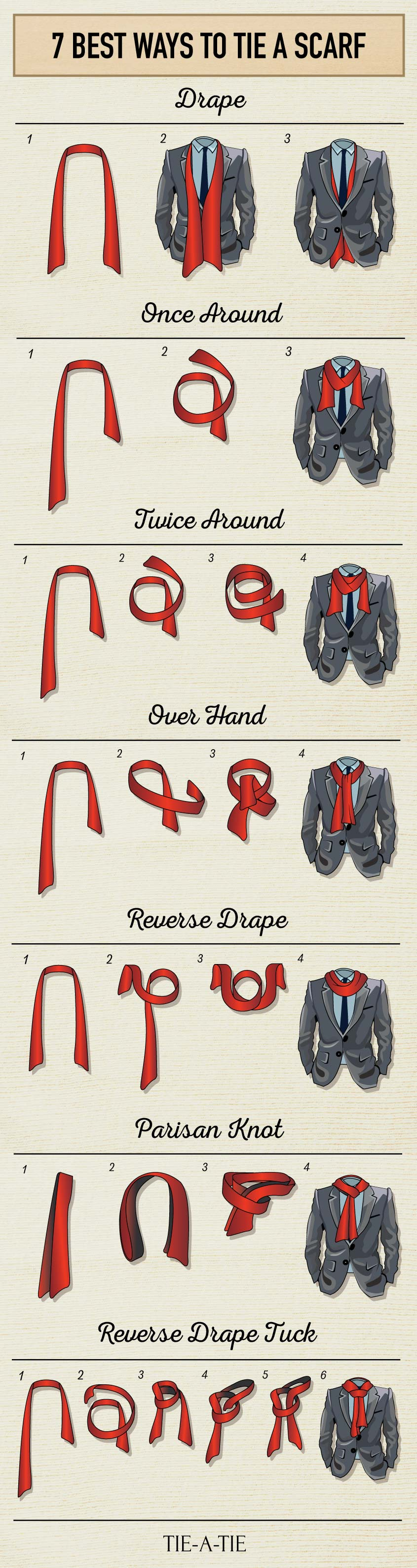 Hermes Silk Tie | Ways to Wear Scarves | Scarf Knots