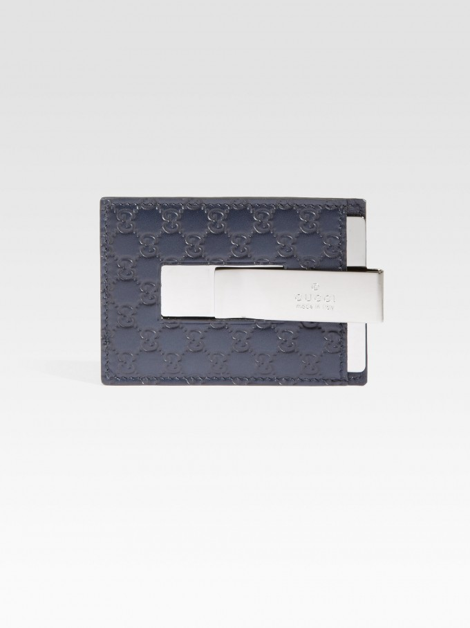High End Mens Wallets | Gucci Money Clip | Bifold Wallet With Money Clip