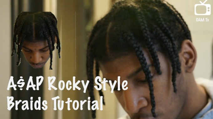 How To Cornrow Short Hair | Short Braiding Styles | Asap Rocky Braids