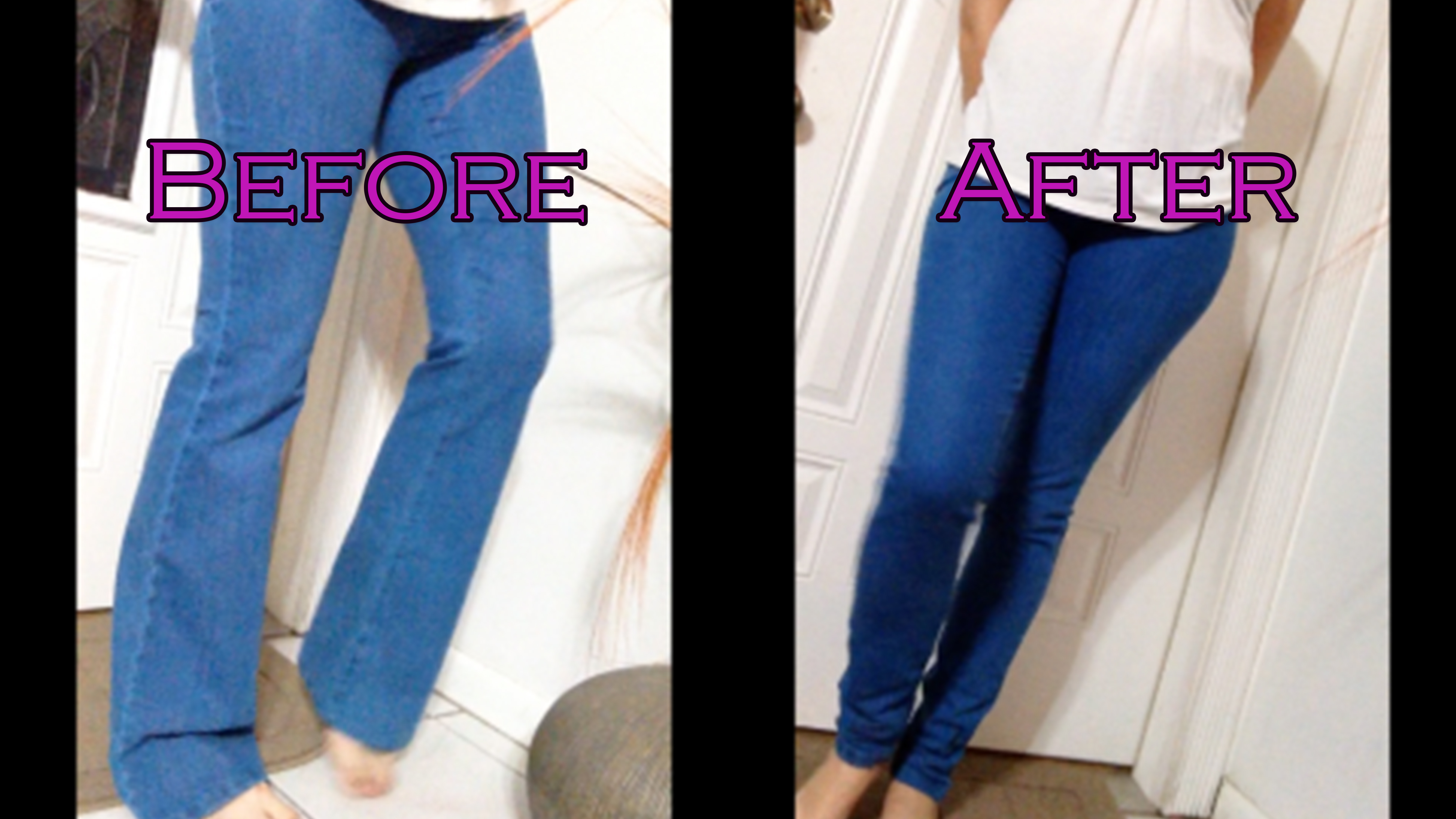 How to Make Jeans Skinnier | Stretchy Skinny Jeans | How to Shrink Jeans