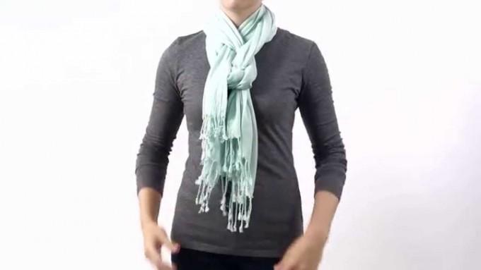 How To Tie A Silk Scarf | Scarf Knots | 50 Ways To Tie A Scarf