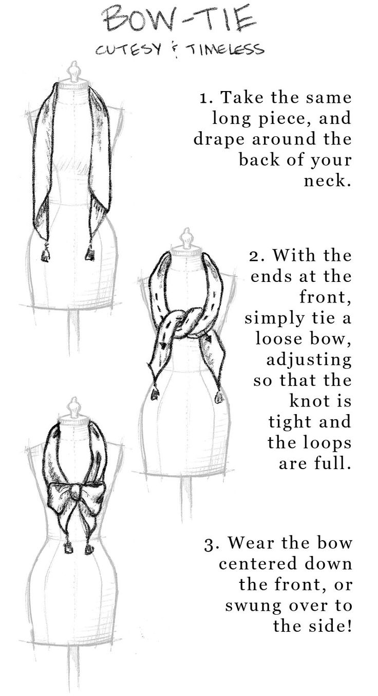 How to Wear A Hermes Scarf | Cowboy Scarf Knots | Scarf Knots