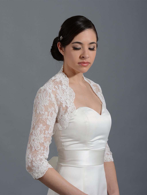 Ivory Lace Bolero Shrug | Lace Shrug | Silver Lace Bolero Shrug