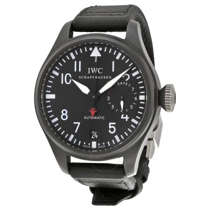 Iwc Big Pilot Chronograph | Classic Aviator Watch | Iwc Top Gun