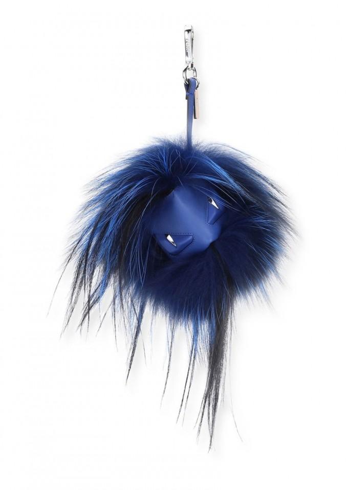 Kendall Jenner Fur Keychain | Fendi Monster Charm | Fendi Fur Monster