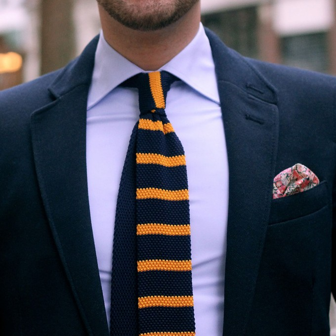 Knit Ties | Knit Wool Ties | Coral Knitted Tie