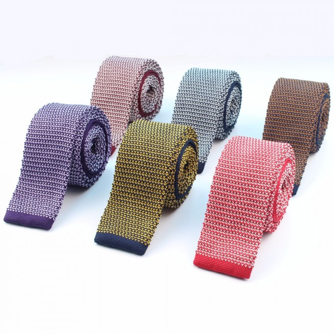 Knit Ties | Knitted Silk Tie | Black Knitted Tie