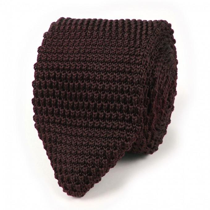 Knit Ties   Skinny Wool Ties   Navy Blue Knit Tie