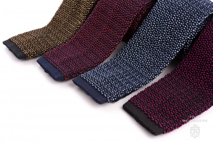 Knit Ties | Tie Dye Knit Fabric | Red Knit Tie
