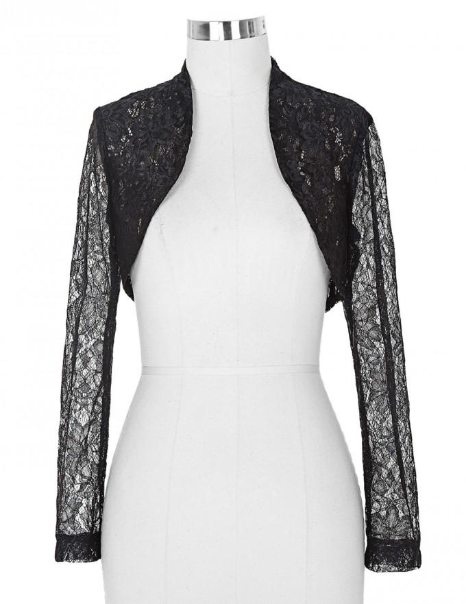 Lace Shrug | Gold Bolero Jacket | Black Lace Shrug 3 4 Sleeve