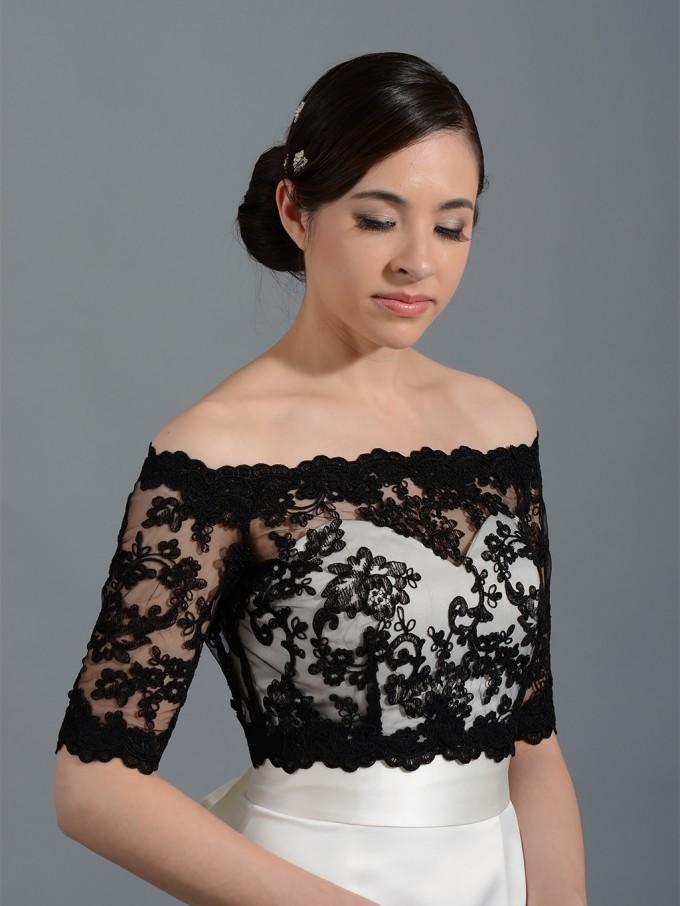 Lace Shrug   Plus Size Shrugs For Dresses   Long Sleeve Bolero